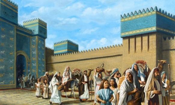 3-Los Profetas saliendo de Babilonia