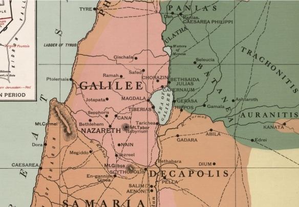 58-Mapa de Galilea en tiempos de jesus