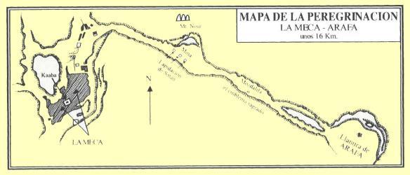 MAPA DE LA PEREGRINACION