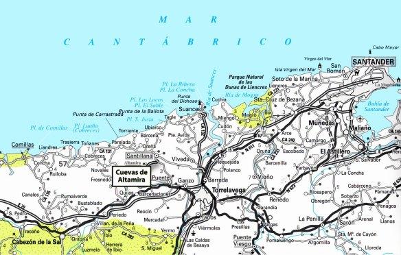 2-Mapa de situación de las Cuevas de Altamira-metirta.online