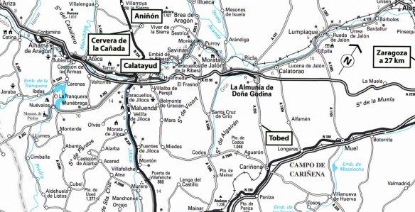 20-Mapa de situación de la arquitectura mudejar en Zaragoza-metirta.online