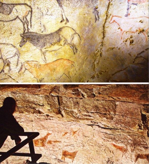 3-Arriba Cueva de El Pendo en Escobedo (Cantábria). Abajo réplica de la cueva de Ekain, en Eikanberri-metirta.online