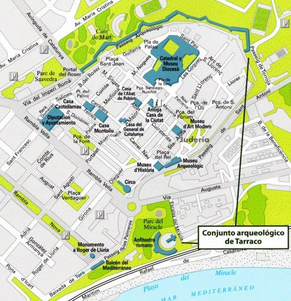 30-Mapa de situación del conjunto arqueológico de Tarraco-metirta.online