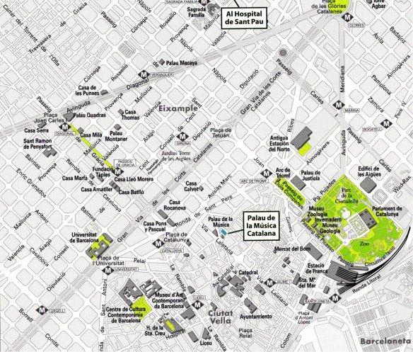 34-Mapa de situación del Hospital de Sant Pau i del Palau-metirta.online
