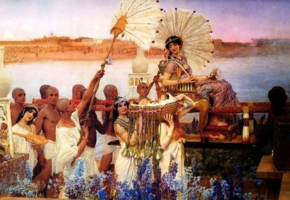 6-Cleopatra en el Nilo con su ejército
