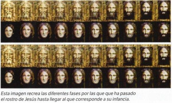 10-Imagen que recrea las fases por las que ha pasado el rostro de Jesús hasta llegar a su infancia-metirta.online