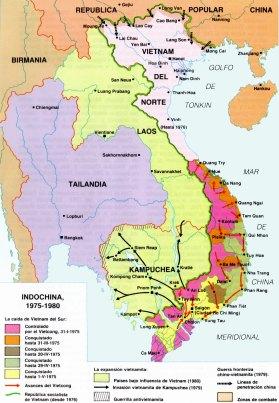 16-Mapa de la guerra de Indochina (1975-1980)
