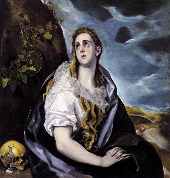 5-La Magdalena penitente óleo del Greco