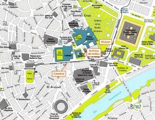 5-Mapa de situación Alcázar de Sevilla-metirta.online