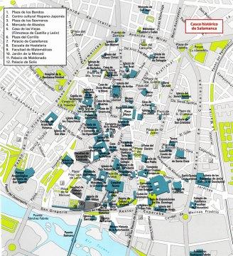 5-Mapa del casco histórico de Salamanca