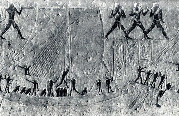 6-Maniobras de barcas egipcias a vela