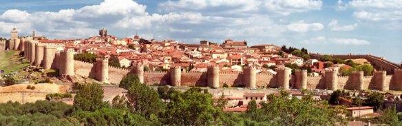 8-Vista de la muralla de Ávila