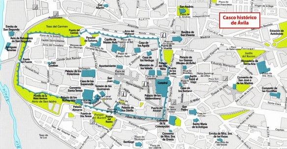 9-Mapa del casco histórico de Ávila