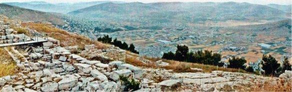 9-Vista desde la montaña de Garizim, en Palestina, centro de culto de los samaritanos-metirta.online