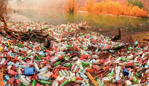 2-Botellas de plástico acumuladas en el borde de un rio.metirta.online.jpg