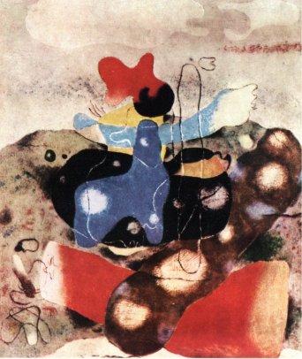 2-Will Baumeister Eidos V-1939- el pintor alude a contaminación orgánica