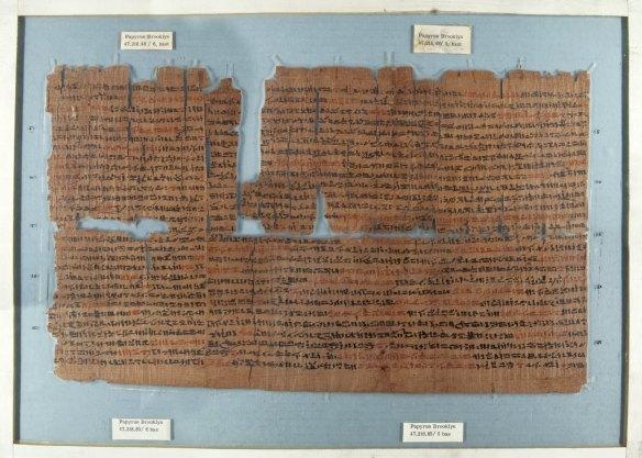 3-Papiro Brooklyn época ptolemaica detalla los rituales egipcios delAño Nuevo - copia