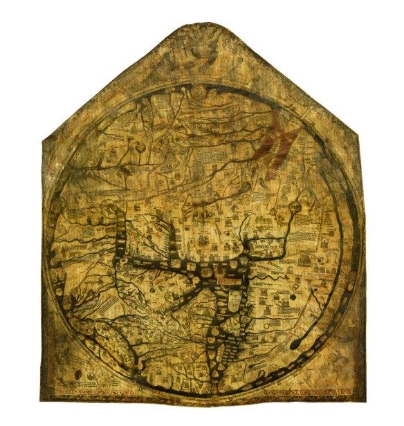 1-Mapamundi de Hereford h1300 Richard de Haldingham.metirta.online