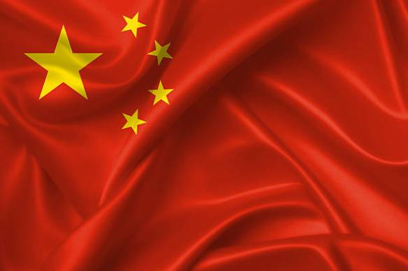 Flag of China 3D, silk texture