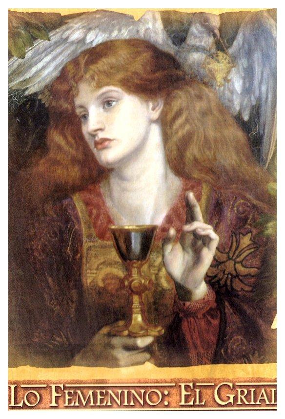 10-La damisela del Santo Crial,Dante Gabriel Rossetti.metirta.online