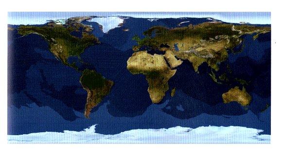 10-Mapa de satélite de la Tierra 1990 Tom Van Sant-metirta.online
