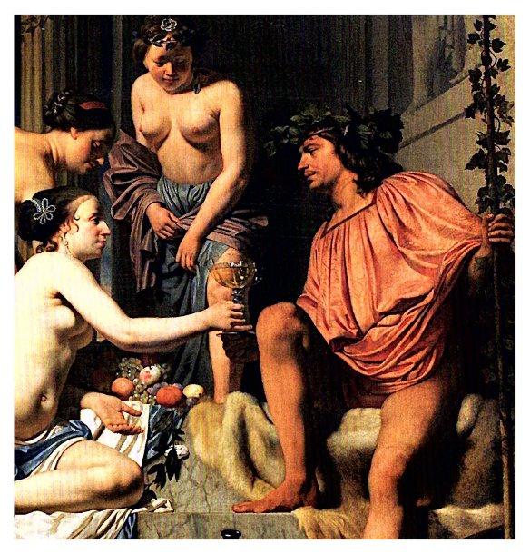 3-Baco en un trono.Caesar Boëtius van Everdingen.1658-1670.metirta.online