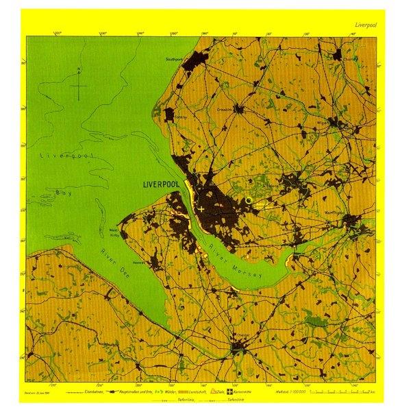 3-Mapa del bombardeo alemán de Liverpool 1941 Personal general de la Luftwaffe.metirta.online